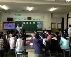 小学校での出前授業風景